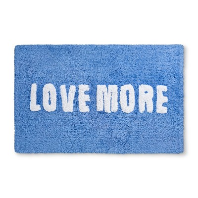 Tufted Love More Glisten Bath Rugs And Mats Bicycle Blue - Room Essentials™