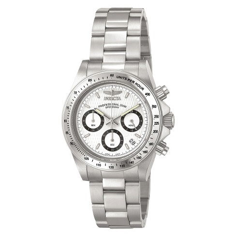 Invicta Men's Stainless Steel Speedway Quartz Chronograph Watch - Silver (IN-9211) - image 1 of 2
