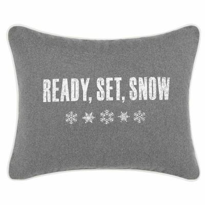 Gray Ready Set Snow Throw Pillow - Eddie Bauer