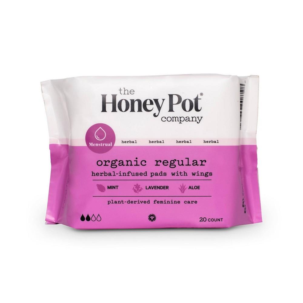 The Honey Pot Organic Cotton Herbal Regular Pads 20ct