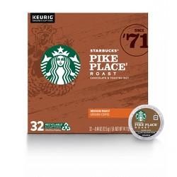 Starbucks Pike Place Medium Roast Coffee - Keurig K-Cup Pods - 32ct