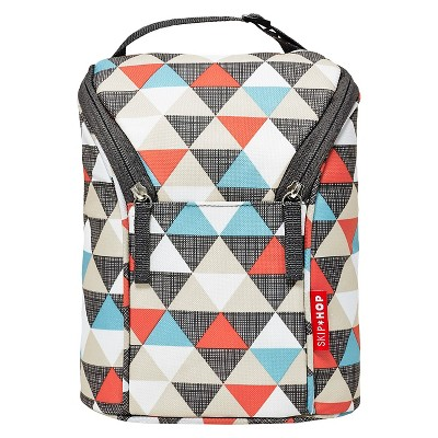 Skip Hop Grab and Go Double Bottle Bag, Triangles