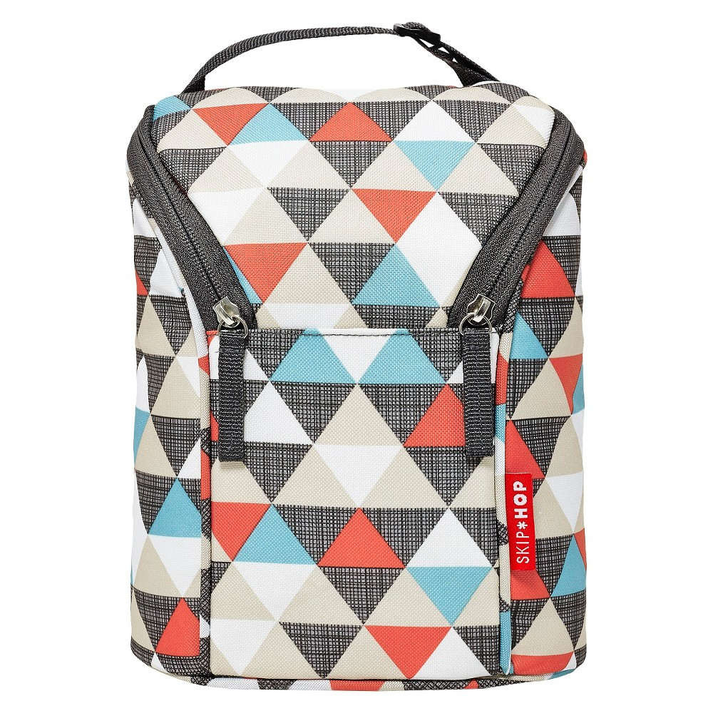 Skip Hop Grab and Go Double Bottle Bag, Triangles, Multi-Colored