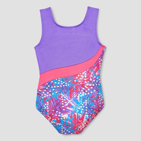 524fb3d5de60 Freestyle By Danskin Girls  Print Gymnastics Leotard - Multi - Color ...