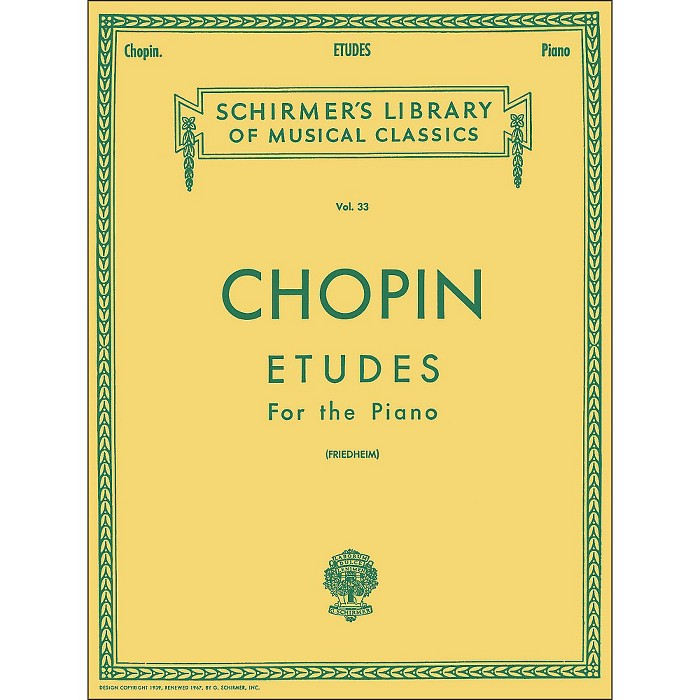 G. Schirmer Etudes for Piano By Chopin - image 1 of 1