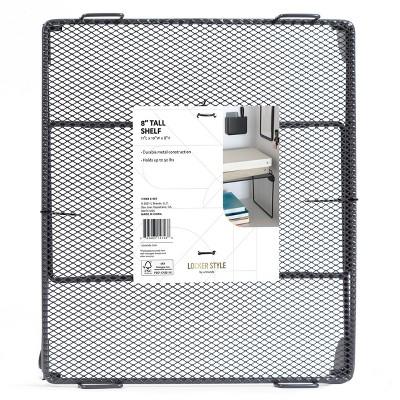 """U Brands 8"""" Mesh Locker Shelf - Gray"""