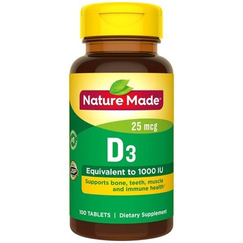 Nature Made Vitamin D3 Dietary Supplement Tablets - image 1 of 2