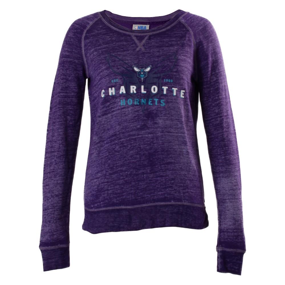Charlotte Hornets Women's Retro Logo Burnout Crew Neck Sweatshirt XL, Multicolored