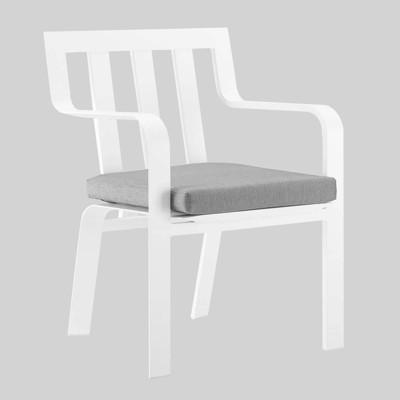 Baxley Outdoor Aluminum Patio Dining Armchair Gray - Modway