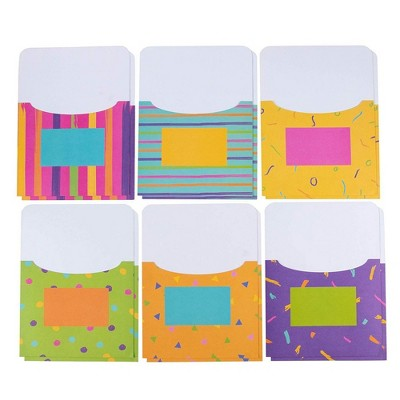 """Juvale 12 Pack Book Pockets, Card Holders for Classroom Bulletin Boards, Paper Storage Holders, 7.5 x 9"""""""