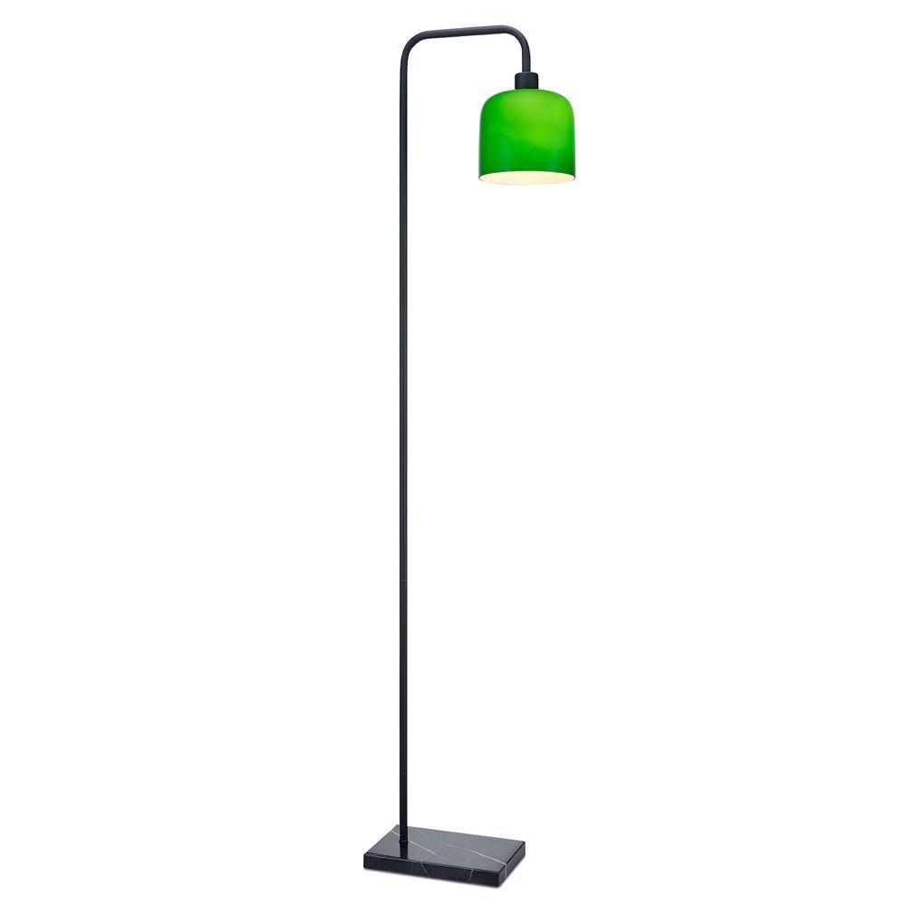 Versanora - Chiara Floor Lamp with Marble Base - Green Finish (Lamp Only)