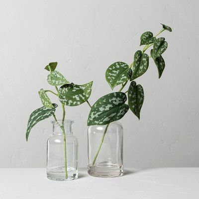 Set of 2 Small & Large Faux Silver Philodendron Arrangements - Hearth & Hand™ with Magnolia