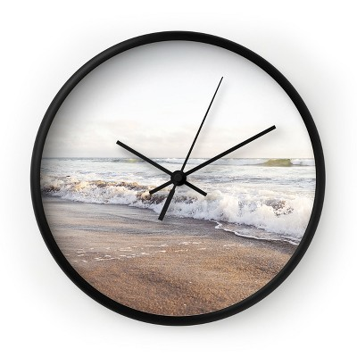 Bree Madden Simple Sea Round Black Wall Clock - Deny Designs