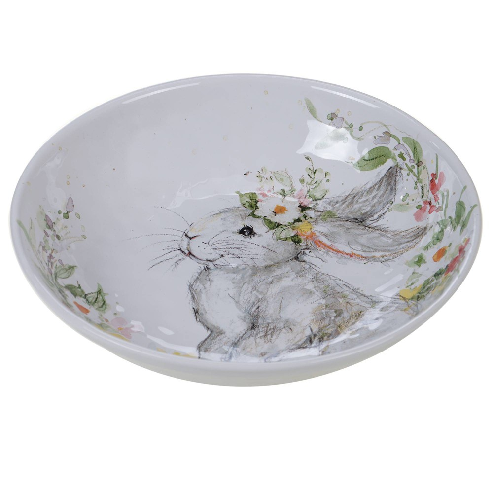 Image of 112oz Earthenware Sweet Bunny Serving Bowl - Certified International