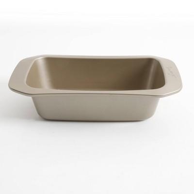 "Cravings by Chrissy Teigen 9""x5"" Carbon Steel Loaf Pan - Gold"