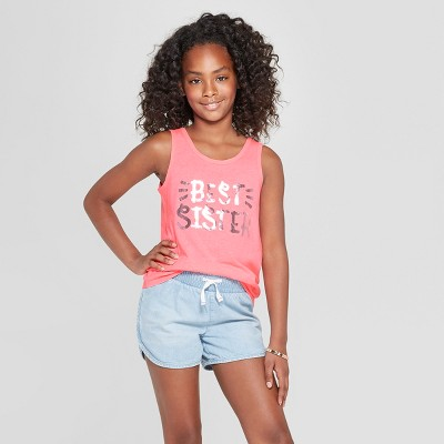 Girls' Best Sister Graphic Tank Top - Cat & Jack™ Pink S