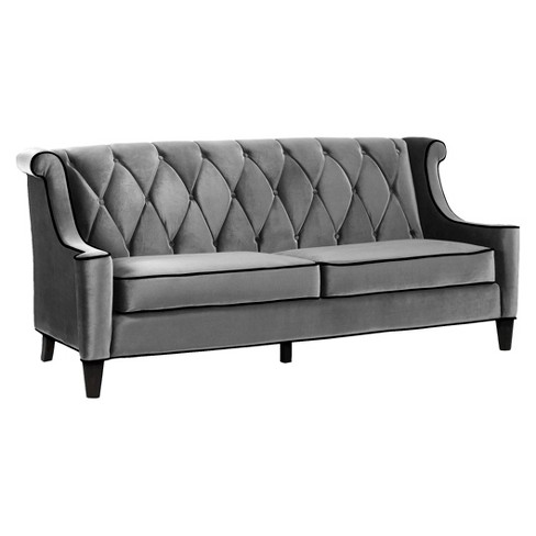 Barrister Sofa Gray Velvet - Armen Living - image 1 of 1