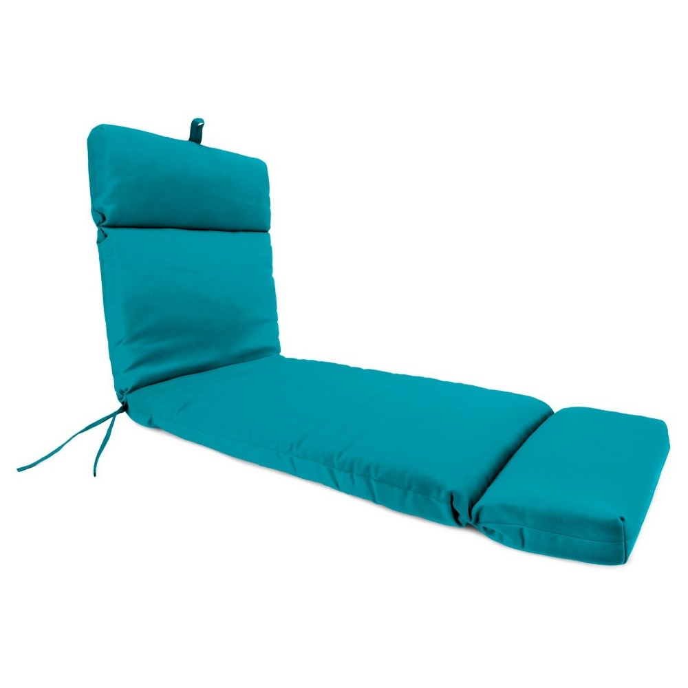 Image of Jordan French Edge Outdoor Cushion - Davinci Turquoise