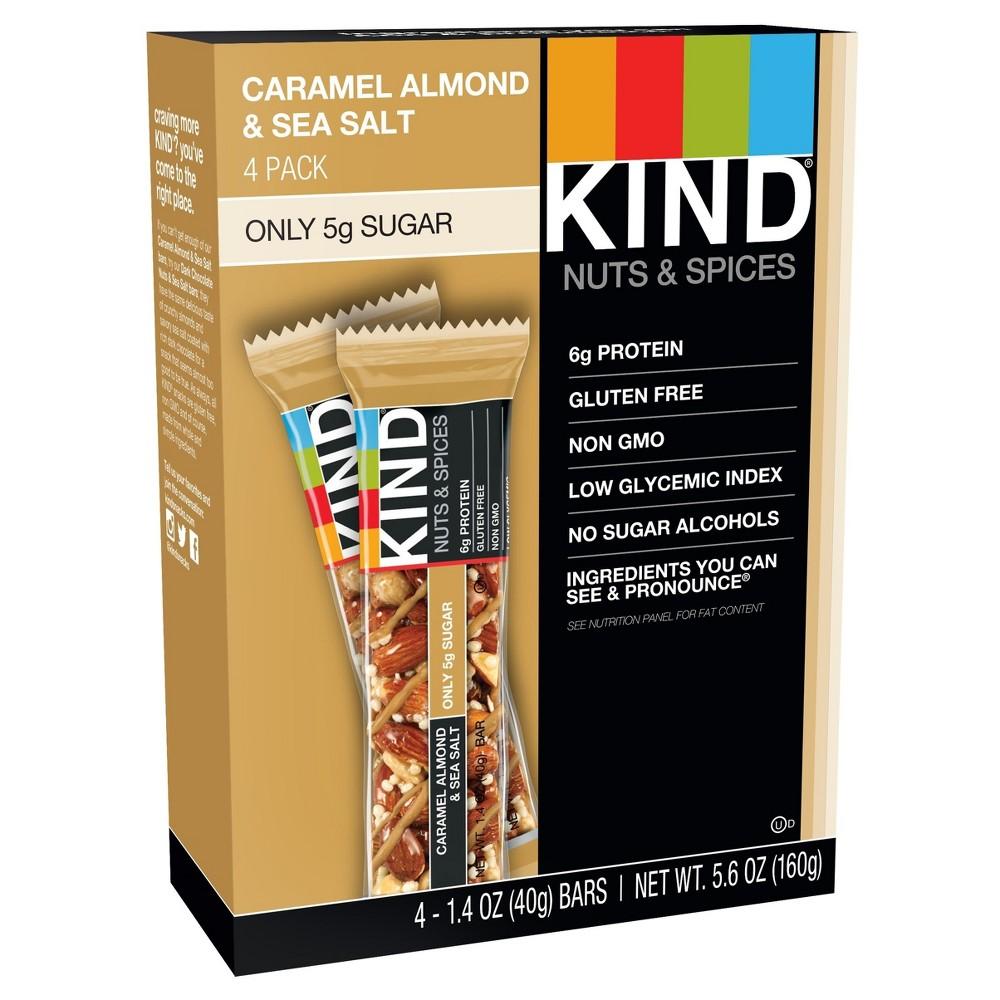 KIND Caramel Almond & Sea Salt Bars - 4ct