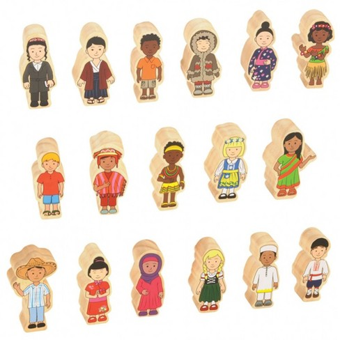 Kaplan Early Learning Children Around the World Wooden Figures - Set of 17 - image 1 of 4