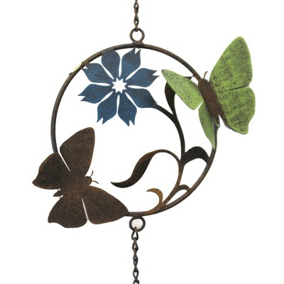 "Home & Garden 24.0"" Butterfly Or Bee Windchime Antiqued Vintage Ganz  -  Bells And Wind Chimes"