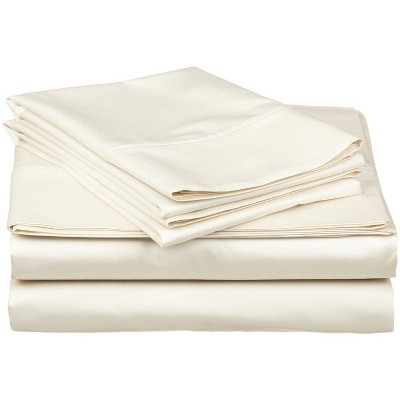 300-Thread Count Cotton Deep Pocket Waterbed Sheet Set, Queen, Ivory - Blue Nile Mills