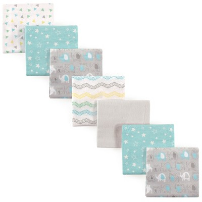 Luvable Friends Baby Cotton Flannel Receiving Blankets, Basic Elephant, One Size