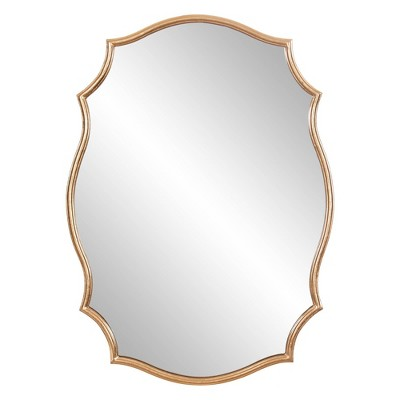 """24"""" x 36"""" Ornate Decorative Accent Wall Mirror Gold - Patton Wall Decor"""