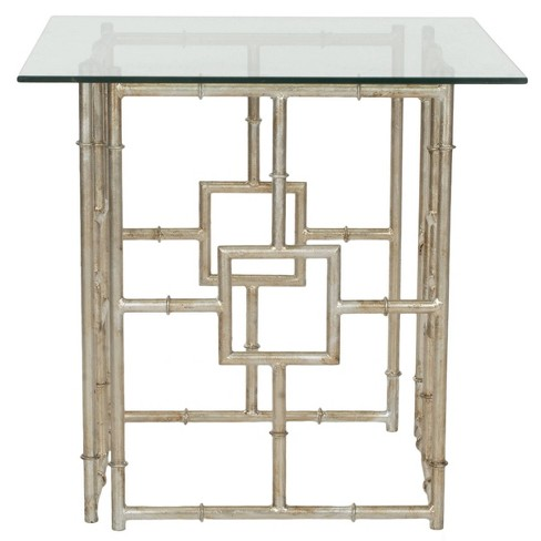 Dermot Accent Table Silver/Clear - Safavieh - image 1 of 3
