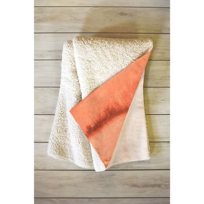 "66""x50"" Monika Strigel Within The Tides Sunrise Throw Blanket Orange - Deny Designs"