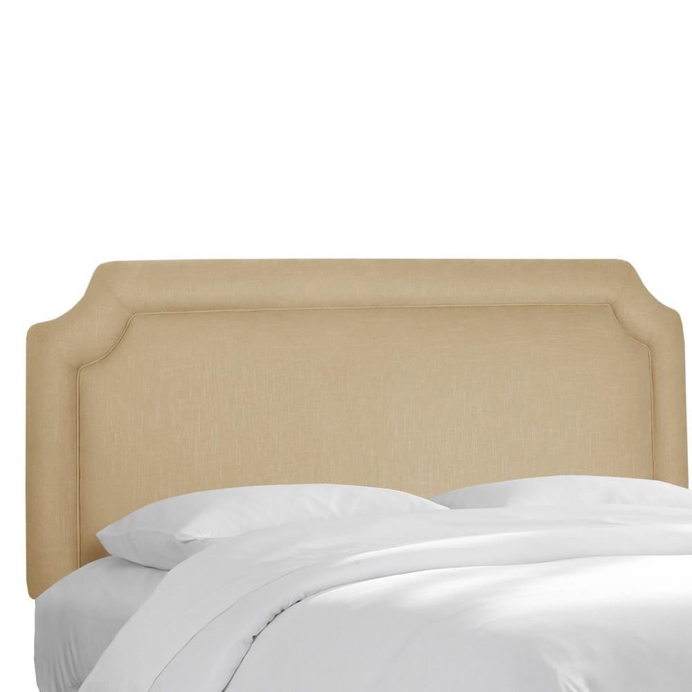 King Clarendon Notched Headboard Sandstone (Brown) - Skyline Furniture