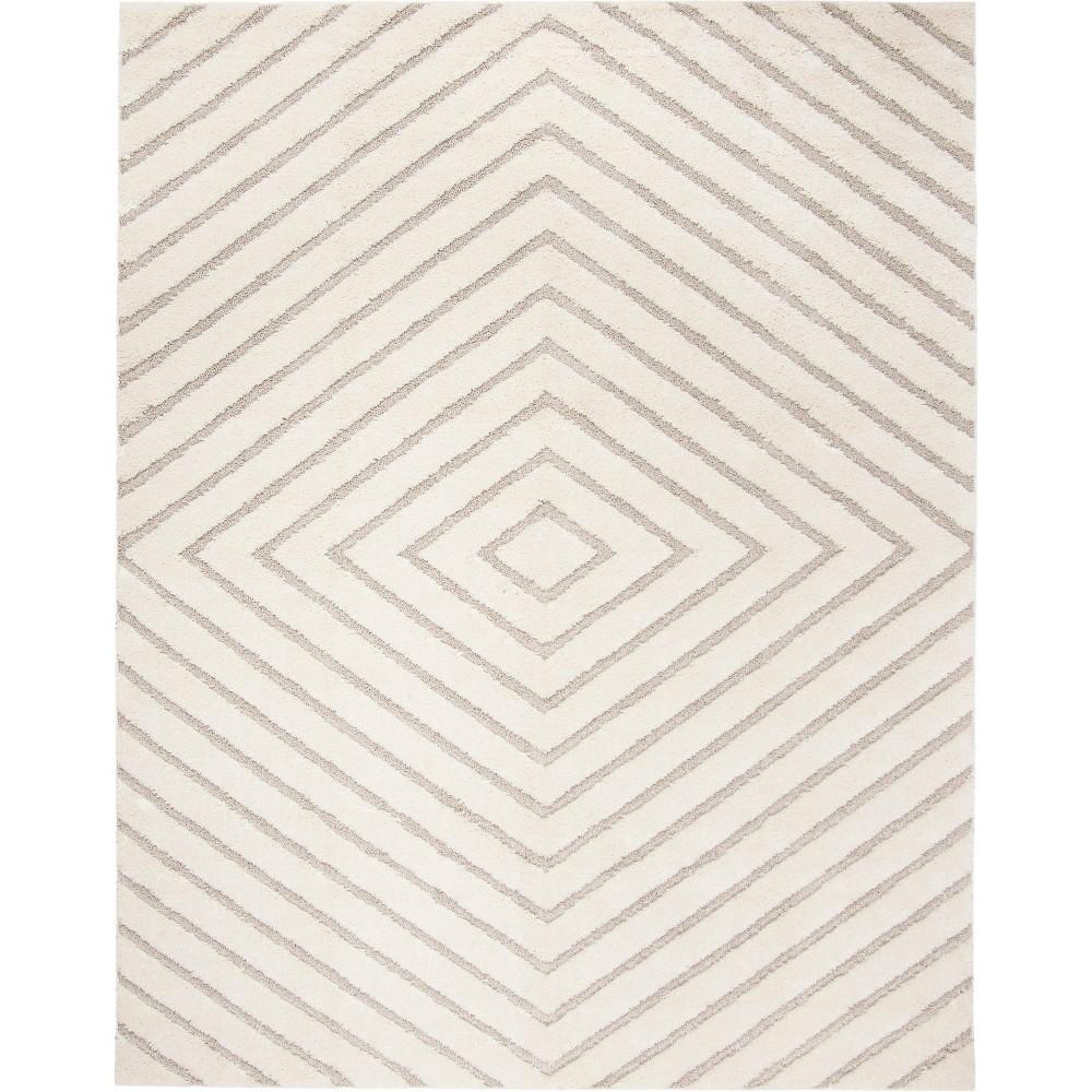 8'X10' Geometric Loomed Area Rug Cream/Beige (Ivory/Beige) - Safavieh