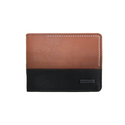 Members Only Men's 2 Tone Vegan Leather RFID Protection Bifold Wallet