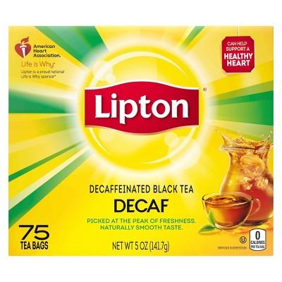 Lipton Decaffeinated Black Tea Bags - 75ct