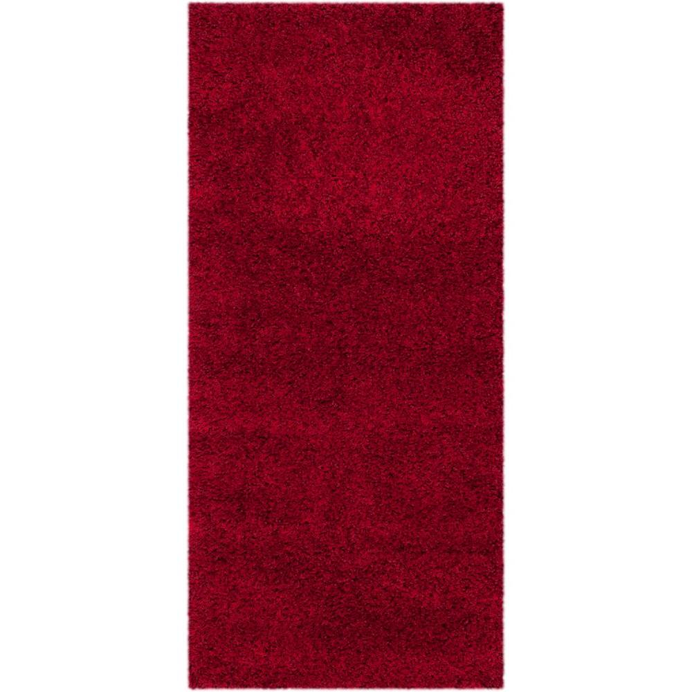 2'3X13' Solid Loomed Runner Light Gray - Safavieh, Red