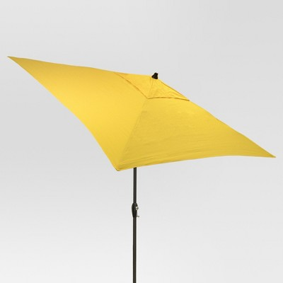 6.5' Square Umbrella - Yellow - Black Pole - Threshold™