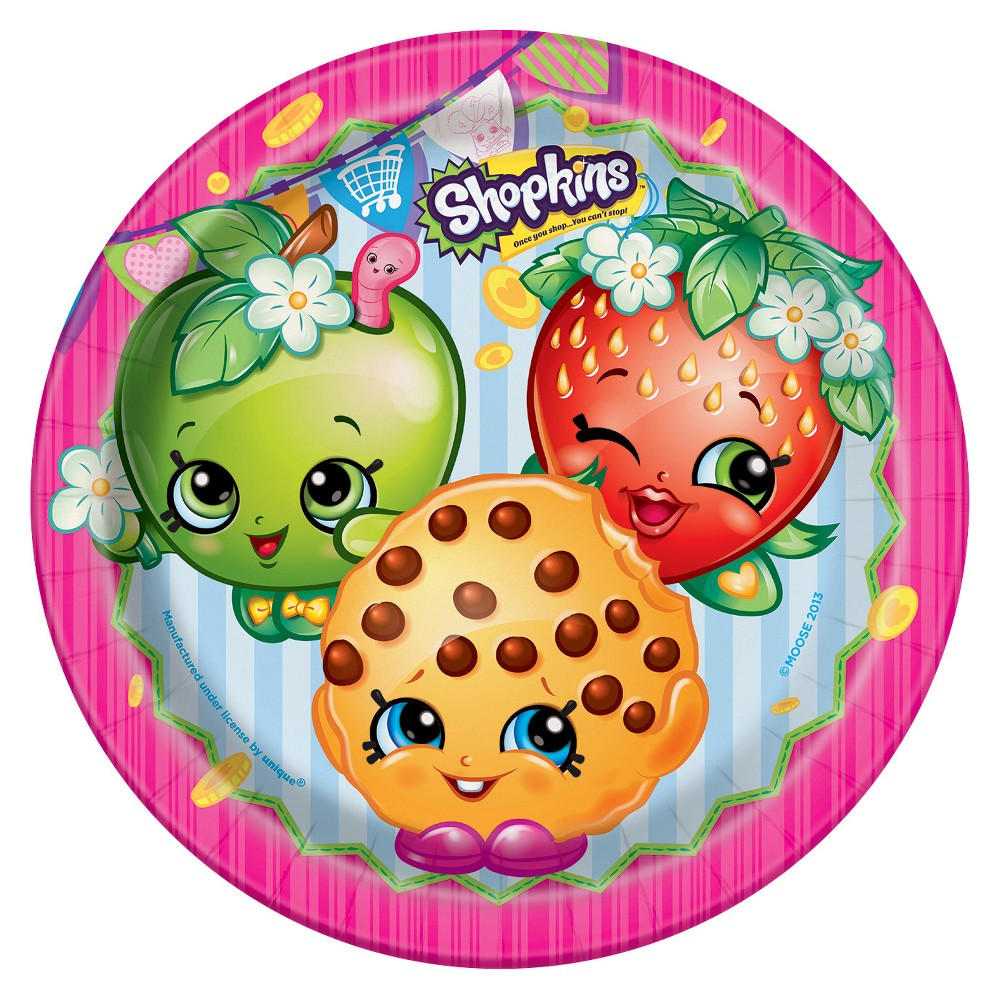 "Image of ""Shopkins 9"""" Paper Plates - 8ct"""