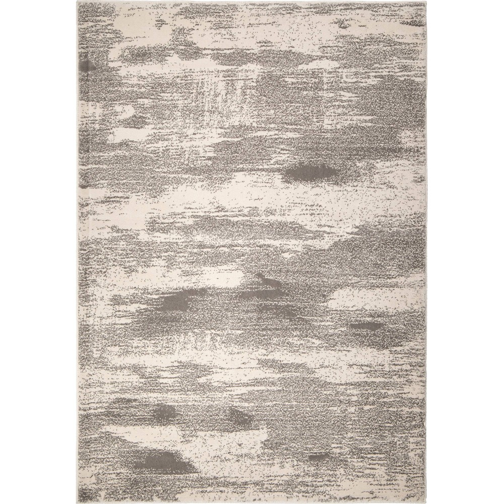 Sterling Gray Abstract Woven Area Rug - (7'10