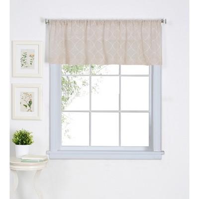 "Taylor Rod Pocket Window Kitchen Valance - 60"" x 15""  - Linen - Elrene Home Fashions"