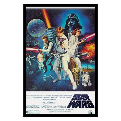 24X36 Star Wars - V One Sheet Framed Poster Trends International
