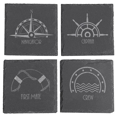 Cathy's Concepts Slate Coaster - Set of 4 - Nautical - image 1 of 4