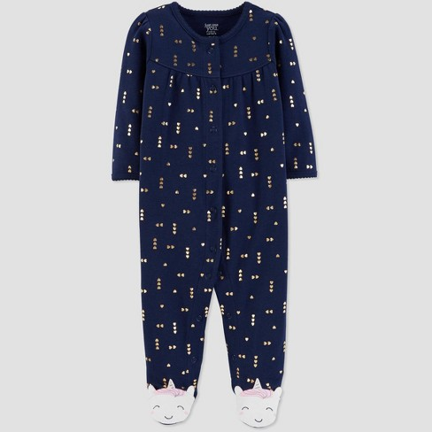 Baby Girls' Sleep 'N Play Unicorn 1pc Pajama - Just One You® made by carter's Navy - image 1 of 1