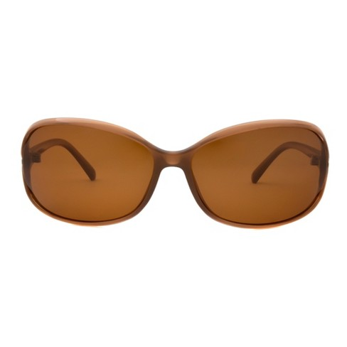 acaf9603021 Women s Two Tone Polarized Sunglasses - A New Day™ Tan   Target