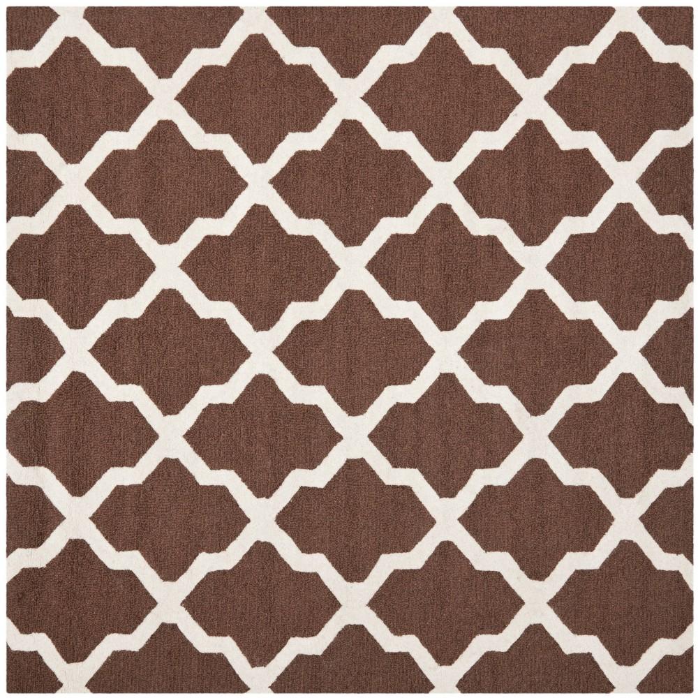 Maison Textured Rug - Dark Brown / Ivory (8'X8') - Safavieh, Dark Brown/Ivory