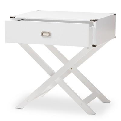 Curtice 1 Drawer Wooden Nightstand - Baxton Studio : Target