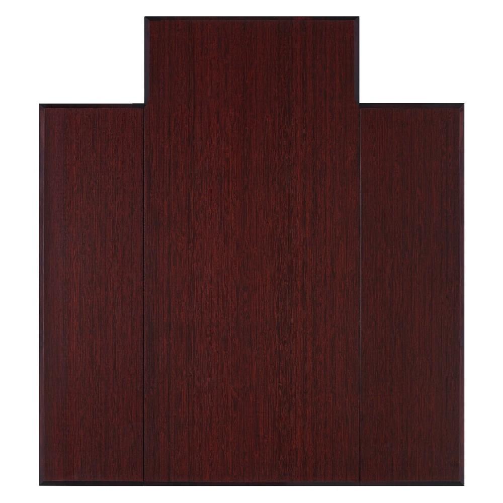 3'9X5' Bamboo Tri-Fold Plush Chairmat with Lip Brown - Anji Mountain