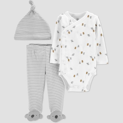 Baby Boys' 3pc Koala Top and Bottom Set with T-Shirt - Just One You® made by carter's White/Gray Newborn