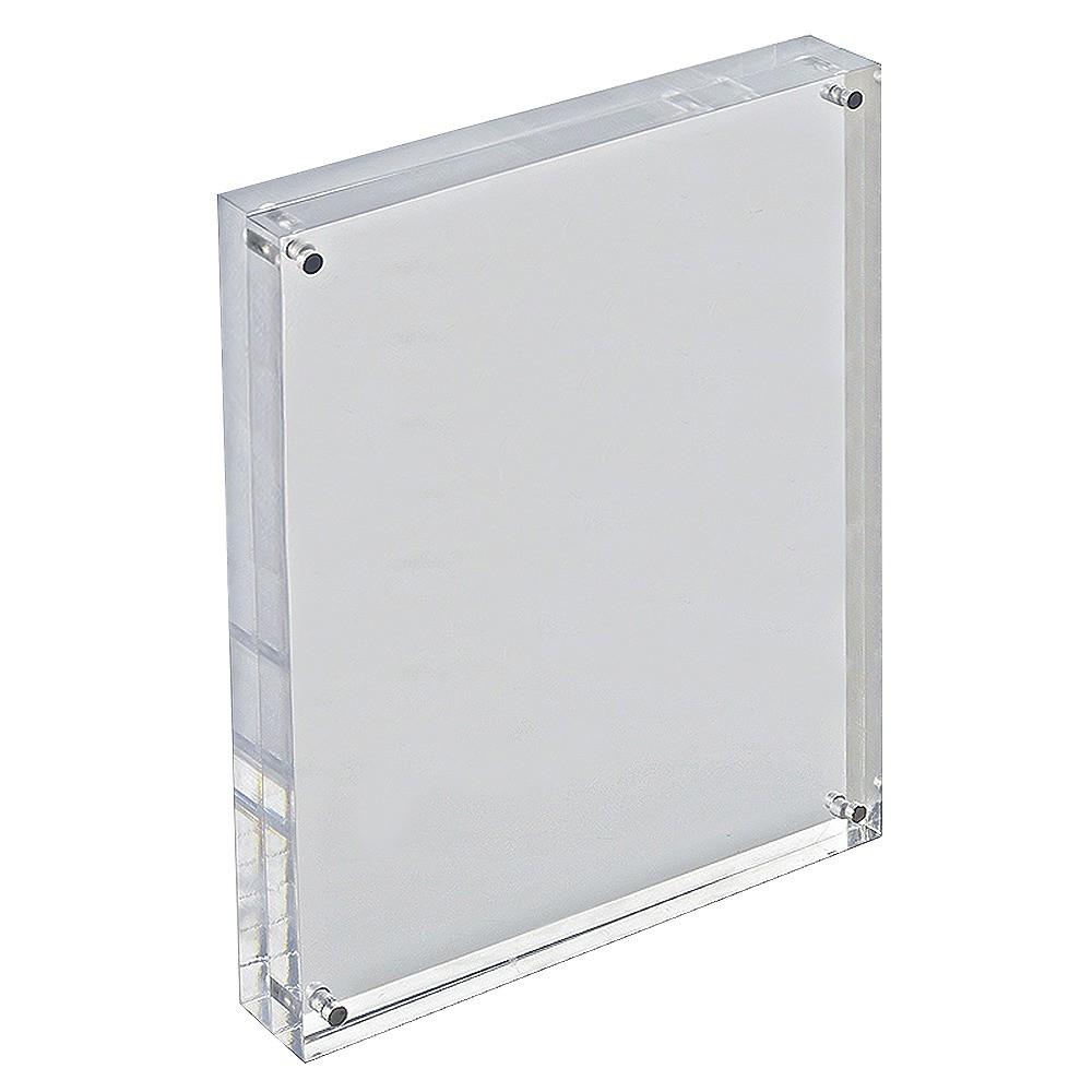 "Image of ""Azar 8.5"""" x 11"""" Vertical/Horizontal Acrylic Block Frame, Medium Clear"""