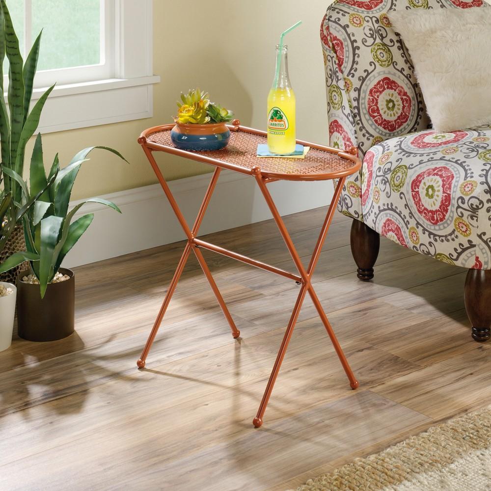 Image of Viabella Side Table Terracotta Finish - Sauder, Orange