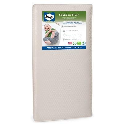 Sealy Soybean Plush Foam-Core Crib and Toddler Mattress